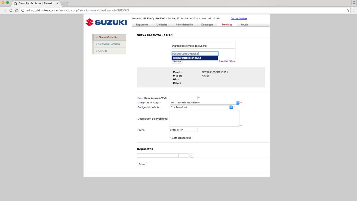 extranet-suzukimotos-garantias